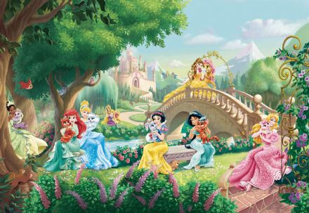 Wall mural wallpaper Princess palace pets